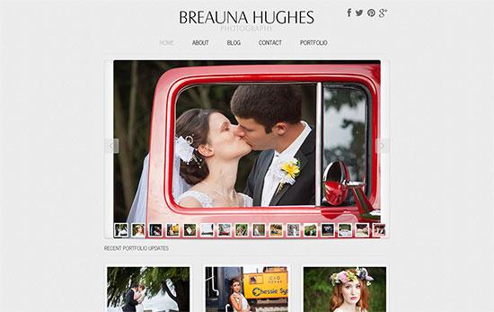 vegas website designs - breauna hughes photography