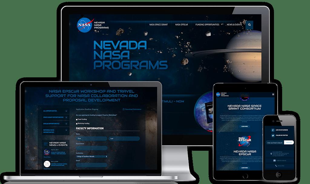 Nevada NASA Programs Web Design Project