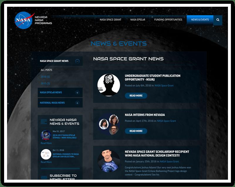 Nevada NASA Programs After