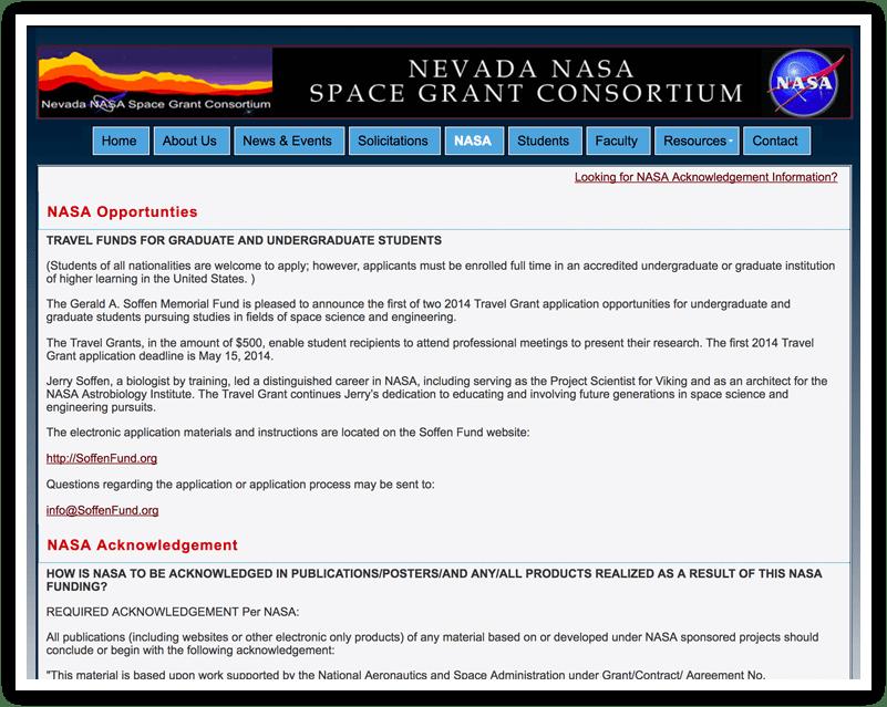 Nevada NASA Programs Before