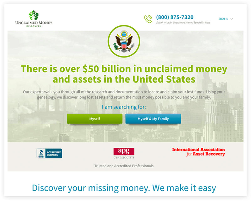 Unclaimed Money Discovery After